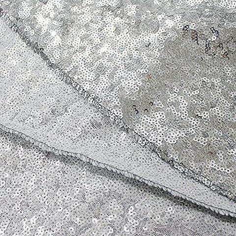 1Yard Plata Shimmer Fiesta telón de fondo Tela hecha a mano Tela Para Vestidos