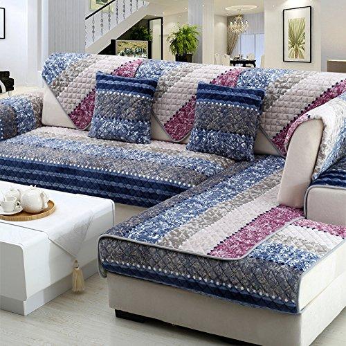 New day®-Divano stuoie inverno divano in tessuto antiscivolo peluche cuscino semplice e moderno , 90*160