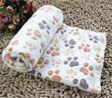 spnvebh Medium Size Pet Kennel Mat Dog Quilt Polka Dot Cartoon Style Puppy Dogs Beds For Small Larger Pets Cats Mats PC04 - White