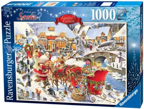 Ravensburger 19016 Quale strada per Babbo Natale? Puzzle 1000 pezzi Fantasy