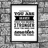 Motivational Inspirierende positiven Gedanken Zitat Poster Bild Kunstdruck Wand 38von Inspiriert wallsâ