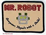 Mr robot Fsociety TV Show costume di Halloween da ricamo patch badge Easy Iron On by Mr toppe