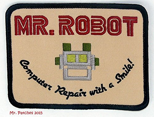 MR ROBOT FSOCIETY TV SHOW Embroidery Patch Halloween costume Badge Easy Iron On by Mr - Fsociety Kostüm