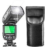 Neewer E-TTL Flash Speedlite con LCD Display, Diffusore Duro e Borsa Protettiva per Fotocamere DSLR Canon come 7D Mark II, 5D Mark II III IV, 1300D, 1200D, 750D, 700D, 600D, 80D, 70D, 60D (NW-562)