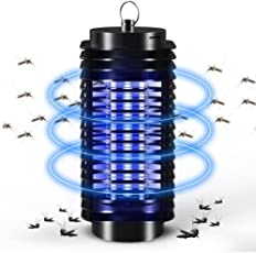 Teepao Anti Mosquito Killer Lamp, UV Insect Killer Indoor Bug Zapper with Hook for Outdoor Yard Hanging, UK Plug 220V