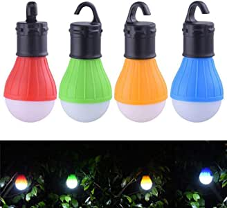 Gugio Camping Lights Waterproof Portable Battery Operated Emergency Tent LED Light Bulb Lamp Lantern for Outside Camping Outdoor Hiking Fishing Tent Lights