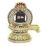 #10: Discount4product Metal Black Lord Shiva Linga Statue Dashboard God Idol