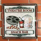 Jun altmodischen Metall blechschild Theater Raum Snack Bar Blechschild Vintage Metall Schild Poster Bar Pub Home Decor Wall Dekorationen Film Movie Dekorative singt, 30x 30cm
