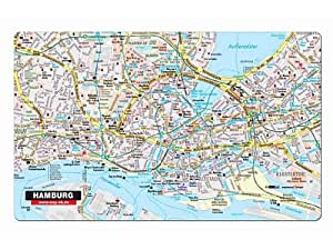 fr hst cksbrettchen hamburg downtown das schneidebrett mit hamburg stadtplan k che. Black Bedroom Furniture Sets. Home Design Ideas