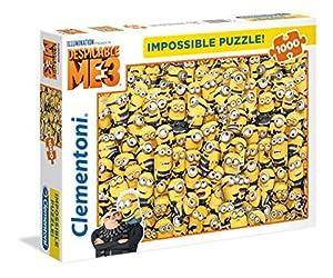 Clementoni- Puzzle Impossible Minions 1000 pzas, (39408)