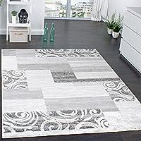 Tappeto di Design per Salotto Arredamento A Pelo Corto Motivo in Grigio Crema, Dimensione:190x280 cm
