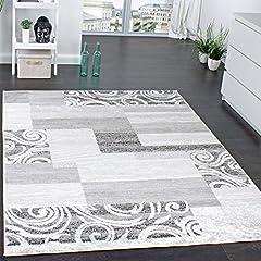 Idea Regalo - Tappeto Di Design Per Salotto Arredamento A Pelo Corto Motivo In Grigio Crema , Dimensione:120x170 cm