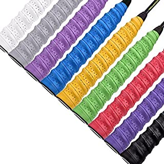 Lvcky 9 Pieces Tennis Badminton Racket Overgrips for Anti-slip and Absorbent Grip, Multicolor