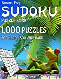 Famous Frog Sudoku Puzzle Book 1,000 Puzzles, 500 Hard and 500 Very Hard: Jumbo Book With Two Levels To Challenge You: Volume 30 (Beach Bum Sudoku Series 2)