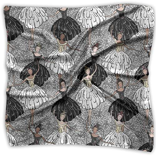 e Swan Lake Silky Square Scarf Kerchief Neck Scarf Headdress ()