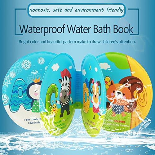 Zerodis Bath Time Buch, Bunt, Wasserdichtes Baby Dusche Wasser Weich Muster Badebuch Animal Zoo Play Schwimmen Badezimmer Early Educational Lernen Spielzeug mit BB Sound (Baby-bücher Baby-dusche Für)