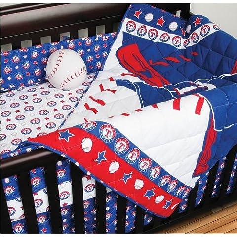 MLB Texas Rangers 4pc Baseball Crib Bedding