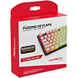Copritasti Pudding HyperX - Set completo da tastiera - PBT - Bianco - Layout Inglese (US) - 104 tasti, Retroilluminazione, Pr