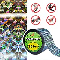 350FT  Cinta Holografica Anti pajaros, repelente de pájaro Scare cinta doble cara cinta reflectante mantiene todos los pájaros lejos de tu propiedad
