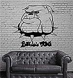 wandaufkleber spruch disney Karikatur-Stier-Hundehalsband-Porträt