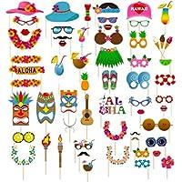 Dsaren 60 Pcs Accesorios para Fotomatón Divertido Bigotes Gafas Photo Booth Props Accesorios para Fiesta,