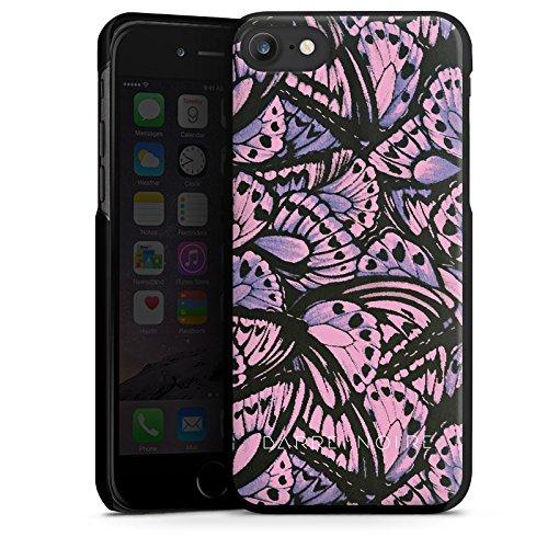 Apple iPhone X Silikon Hülle Case Schutzhülle Schmetterling Muster Flügel Hard Case schwarz