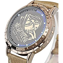 Sunkee New Tokyo Ghoul Kamishiro Rize LED Touchscreen Electronic clock Waterproof cosplay watch