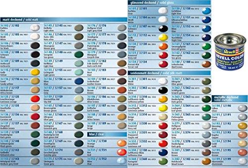 Preisvergleich Produktbild Revell Email Color Farben - 10 Töpfchen a 14ml - Farbauswahl per Mail