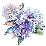 Artland Qualitätsbilder I Wandbilder selbstklebende Wandfolie 100 x 100 cm Botanik Blumen Hortensie Malerei Blau C8VK Schöne blaue Hortensien