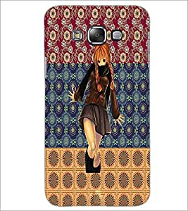 PrintDhaba Cute Girl D-2466 Back Case Cover for SAMSUNG GALAXY A7 (Multi-Coloured)