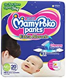 Mamypoko Pants Extra Absorb for 3 to 5kg of New Born, 1 Size (Pack of 20)