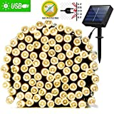 #9: IFITech 72 Feet 200 LED Solar String Light (Yellow)