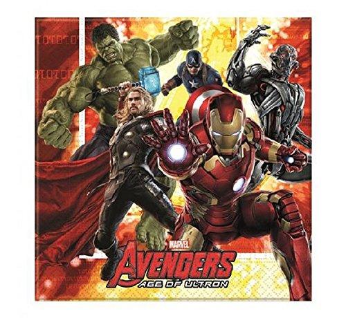 Avengers Age of Ultron 20 tovaglioli per festa di compleanno per bambini