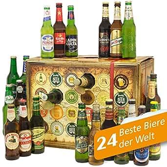 Bier Adventskalender Welt mit Guiness Extra Stout + Carlsberg Elephant + Peroni + Tuborg + TsingTao + mehr … Ein tolles Geschenk für Männer. Bierset + Geschenk, Biersorten WELTWEIT. Adventskalender 2016 – mit 24 Biersorten in FLASCHEN Bieradventskalender Welt 2016 – Adventskalender für Männer, Adventskalender für Erwachsene, Bierkalender Adventskalender Alkohol, Weihnachtskalender mit Bier, Bier Adventskalender International, Weihnachtsgeschenke Bier für Männer