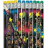 Elfen und Zwerge 6 x Bleistifte Weltall Ufo Star Stern Sternchen Weltraum Schulanfang Mitgebsel Kindergeburtstag Radierer Radiergummi Bleistift Schultüte