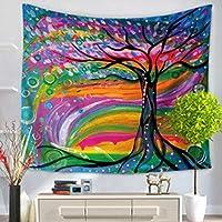 Tapiz de Pared Arte Pintura al Oleo Mapa Colgante en la Pared Manta de Playa Esterilla de Yoga Tapices Decoración para el Hogar(150x200cm)