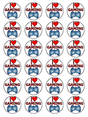 x24-15-inch-i-love-gaming-birthday-cup-cake-toppers-decorations-on-edible-rice-paper