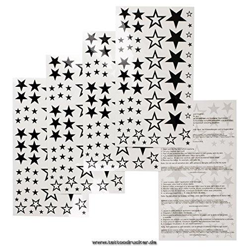 1 x 58 stelle stelle nuove cava stella fissa a cinque punte tatuaggi temporanei - non china!