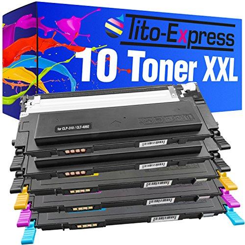 platinumserie 10cartucce toner XXL per Samsung CLP-310Black Cyan Magenta Yellow CLP-310CLP CLP-310CLP-310K CLP-310N CLX-3170CLX3170N CLX-3170FN