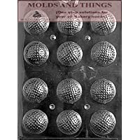 GOLF BALLS 3D Chocolate Candy Mold With © Molding Instruction - Set of 3 by MOLDS AND