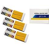 Fontee 240 Stück pH-Wert-Indikator-Teststreifen,1-14, Lackmuspapier - Ideal für die Prüfung vieler alltäglicher…