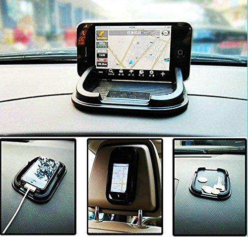 SwirlColor Black Multifunktionsauto -Antirutsch -Auflage-Handy Regal Antislip Mat