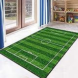 YANFLY Cartoon Carpet Living Room Cameretta per Bambini Baby Creep Carpet 100 x 160cm Calcio