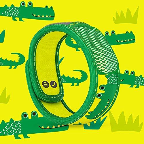 Imagen de parakito  modelo para niño  proteccion natural antimosquito  kit 2 x para'kito pulsera repelente de mosquitos orange et verde + 1 x recarga para'kito para pulsera alternativa
