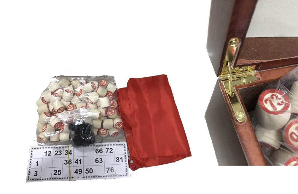 GMMH-Lotto-in-Hochglanz-Holzkiste-Bingo-Loto-Russisches-Spiel