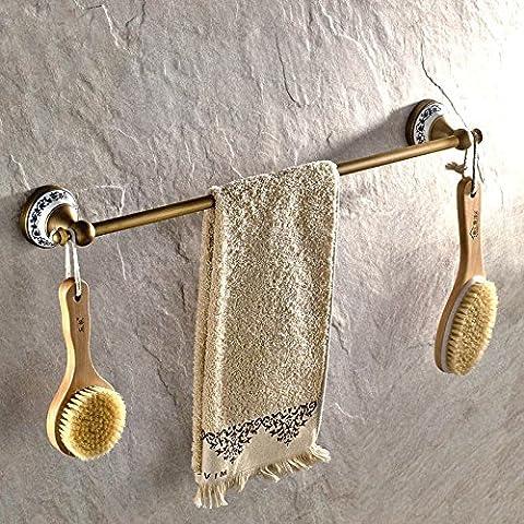 Barre porte-serviettes en acier inoxydable de salle de bain Porte-serviettes serviette de bain étagère murale à suspendre de style contemporain Serviette?, 50 cm