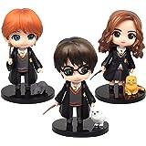 Harry Potter Figurine - Miotlsy 3PCS Wizard Mini Figurine Mini Giocattoli per Bambini e Baby Shower Forniture per Decorazione