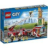 LEGO 60112 - Konstruktionsspielzeug - Feuerwehrauto mit Kran