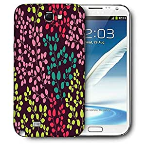 Snoogg Coloful Leaves Printed Protective Phone Back Case Cover For Samsung Galaxy Note 2 / Note II