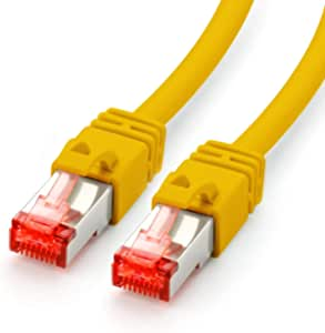 Cat 7 Ethernet Patchkabel 0 25m Gelb Lan Kabel Elektronik